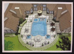 2012 Pool with two fire pits