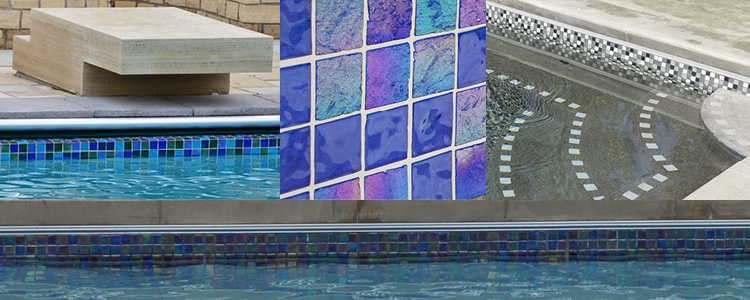 Samples of waterline tile